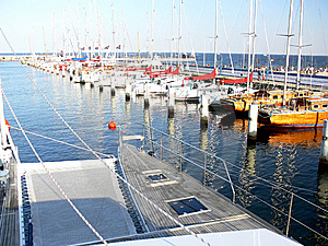 Catamaran Deck Royalty Free Stock Image - Image: 6233206