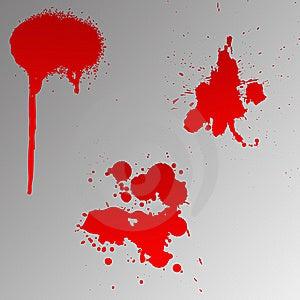 Blood splats Royalty Free Stock Photos