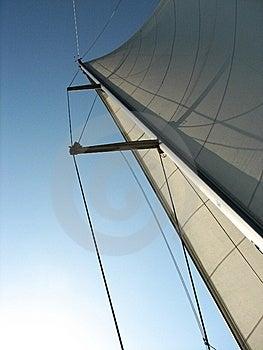 Sailboat Mast And Sail Stock Images - Image: 6234564