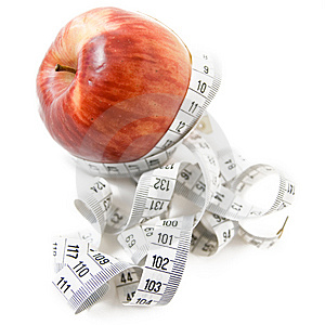 Apple With Measuring Tape Stock Image - Image: 6235551
