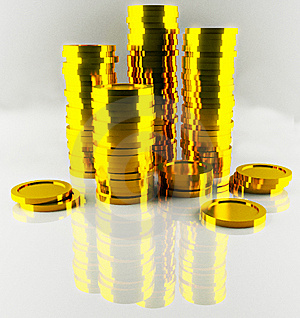 Heap Of Gold Coins Stock Photo - Image: 6236800
