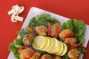 Southern Fried Appetizer Platter Royalty Free Stock Image - Image: 6237096