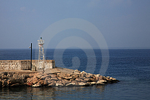 Beacon On Pier Royalty Free Stock Photo - Image: 6237605