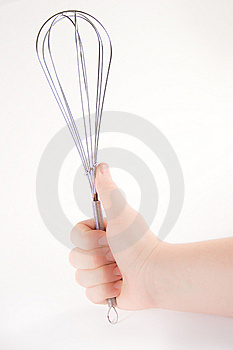 Hand Holding A Whisk Stock Photos - Image: 6240233