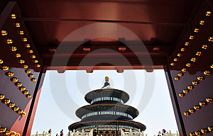 Chinese Ancient Door And Building Stock Photo - Image: 6244540