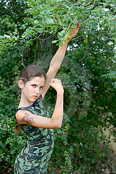 Girl Portrait On Nature Royalty Free Stock Photo - Image: 6245925
