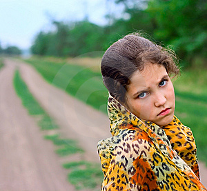 Portrait Girl On Nature Royalty Free Stock Images - Image: 6246039