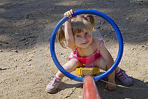 CHILD AT THE PLAYGROUND Royalty Free Stock Image - Image: 6246476