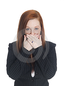 Businesswoman - Speak No Evil Stock Image - Image: 6247271