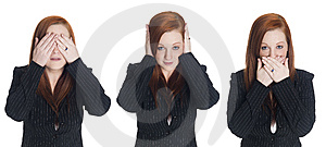 Businesswoman - No Evil Stock Image - Image: 6247311
