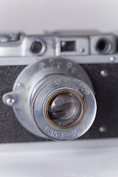 Vintage Camera With Dust And Scratches Royalty Free Stock Image - Image: 6251616