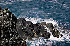 Rockface In The Ocean. Royalty Free Stock Photography - Image: 6252437