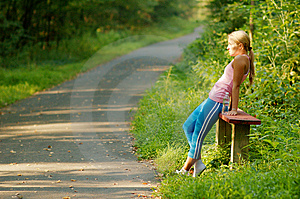 Pretty Young Runner Royalty Free Stock Photo - Image: 6252975