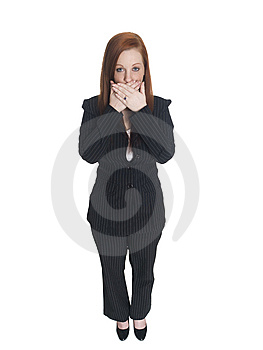 Businesswoman - Speak No Evil Royalty Free Stock Image - Image: 6253086