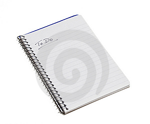 To Do List Note Pad on White Royalty Free Stock Photography