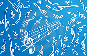 Treble Clefs Background Royalty Free Stock Photography - Image: 6255697