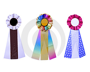 Set Of Three Satin Ribbons Stock Photos - Image: 6255753