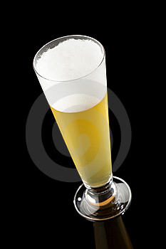 Light Beer In Tall Glass Royalty Free Stock Photography - Image: 6255797