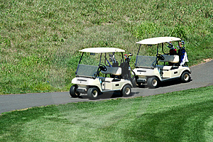 Two Golf Carts Royalty Free Stock Image - Image: 6257226