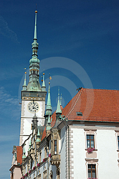 Town Hall On The Main Square Of Olomouc Stock Photo - Image: 6257550