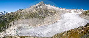 Panorama View Of Rhone Glacier, Alps  Switzerland Royalty Free Stock Photography - Image: 6257667