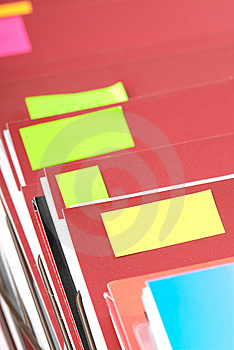 Plain Folders With Copyspace Stickers Stock Photo - Image: 6258350