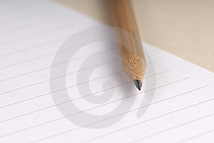 Pencil On A Blank Sheet Of Paper Stock Images - Image: 6258694