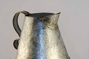 Antique Tin Pitcher Stock Image - Image: 6261981