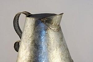 Antique Tin Pitcher Stock Image - Image: 6261981