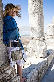 Girl Ang Old Ruins Royalty Free Stock Photography - Image: 6262327