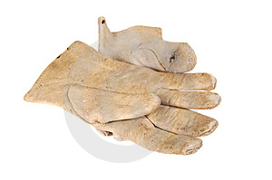 Old Leather Gloves Stock Photo - Image: 6264580