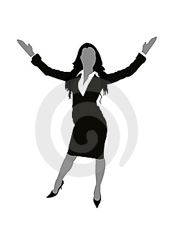 Lady With Open Arms Stock Photos - Image: 6265873