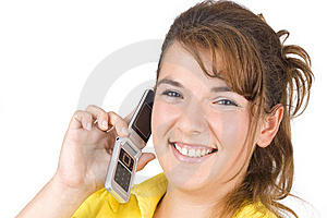 Girl Talking On The Phone Stock Photos - Image: 6265953