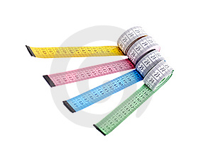 Four Flexible Meters Stock Image - Image: 6268721