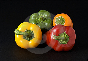 Red Yellow Orange And Green Peppers Stock Photos - Image: 6269963