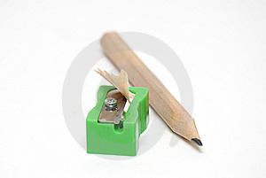 Pencil With Sharpener Royalty Free Stock Photography - Image: 6272457