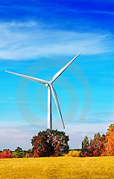 Wind Turbine In The Autumnal Nature Stock Images - Image: 6274374