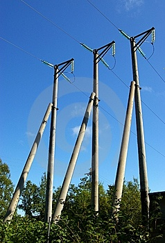 Three Poles. Royalty Free Stock Photos - Image: 6274678