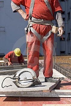 Constructions Workers At Site Stock Image - Image: 6275801