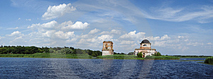 Church In Dnipro River Stock Photos - Image: 6276853