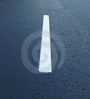 Dividing Lines On The Highway Stock Image - Image: 6280521