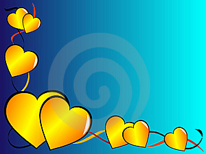 Gold Valentines Day Illustration Stock Photography - Image: 6280542