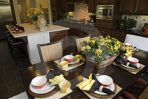 Kitchen and dining room. Stock Photo