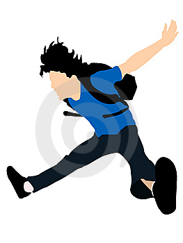 Leaping Young Man Royalty Free Stock Image - Image: 6281686