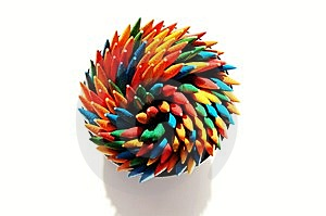 Colored Toothpicks Royalty Free Stock Images - Image: 6282289