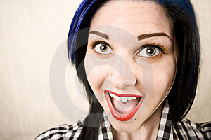 Wide Angle Portrait Of A Cute Rockabilly Girl Royalty Free Stock Images - Image: 6282369