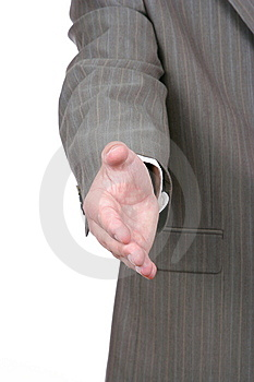 Businessman's Extended Hand Stock Images - Image: 6286224