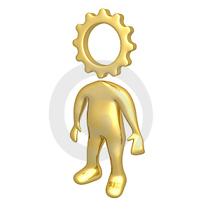 Cog Person Royalty Free Stock Images - Image: 6286439