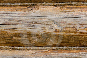 Closeup Of An Old Wooden Wall Made Of Logs Royalty Free Stock Photography - Image: 6291497