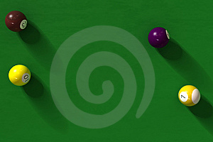 Billiard Table With Balls Stock Image - Image: 6292011